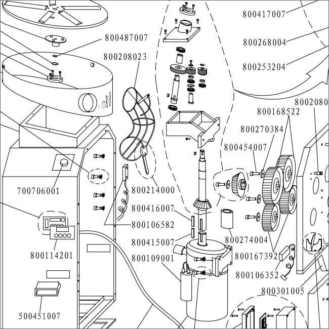 citrocasa 8000 xb parts diagram