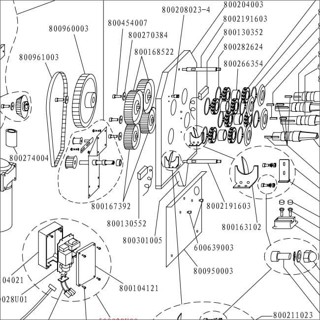 citrocasa 8000 sb parts diagram